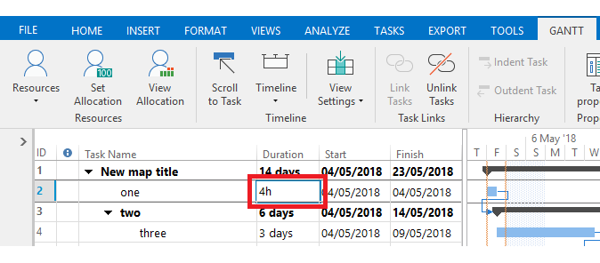 Changing The Gantt Chart To Show Hours In Place Of Days Home